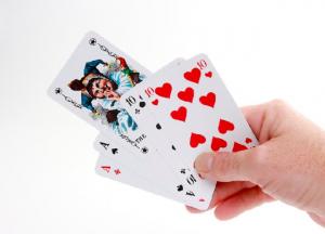 kortspel för en